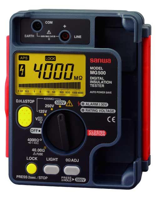 【ポイント5倍】 三和電気計器 (SANWA) 絶縁抵抗計 MG1000