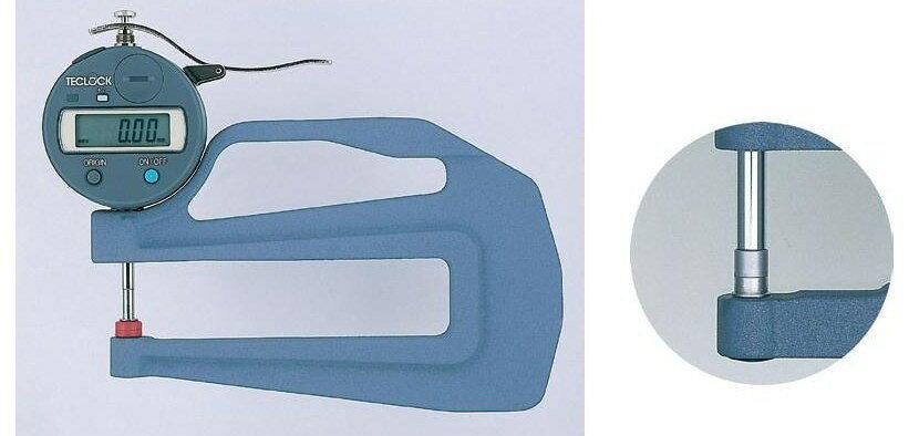テクロック (TECLOCK) 普及型デジタルシックネスゲージ SMD-550S-3A 【受注生産品】