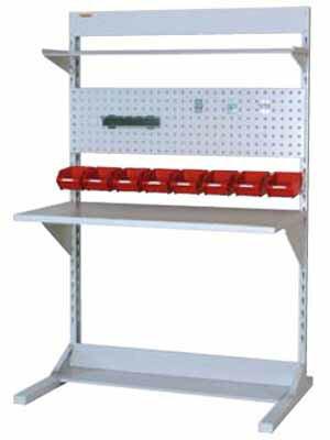 【代引不可】 山金工業 ヤマテック ラインテーブル 間口1200サイズ 基本タイプ 両面用 HRR-1218-TPY 【メーカー直送品】