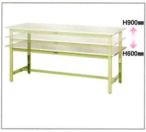 【代引不可】 山金工業 ヤマテック ワークテーブル SWS3A-1890-SG 【メーカー直送品】
