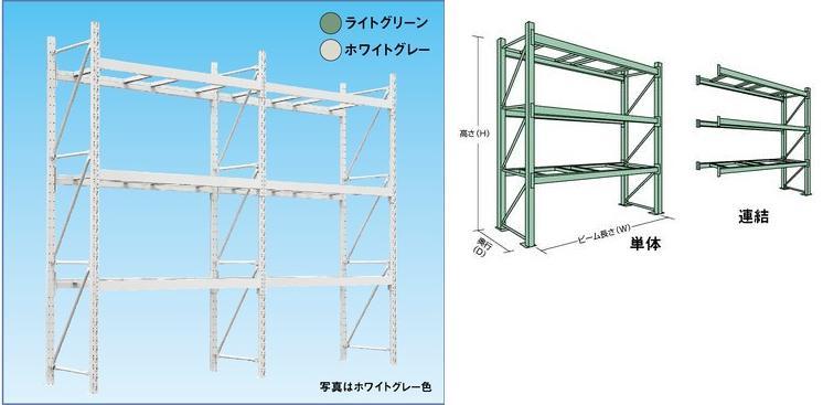 【代引不可】 山金工業 ヤマテック パレットラック 1000kg/段 単体 10S302509-3W 《受注生産》 【送料別】