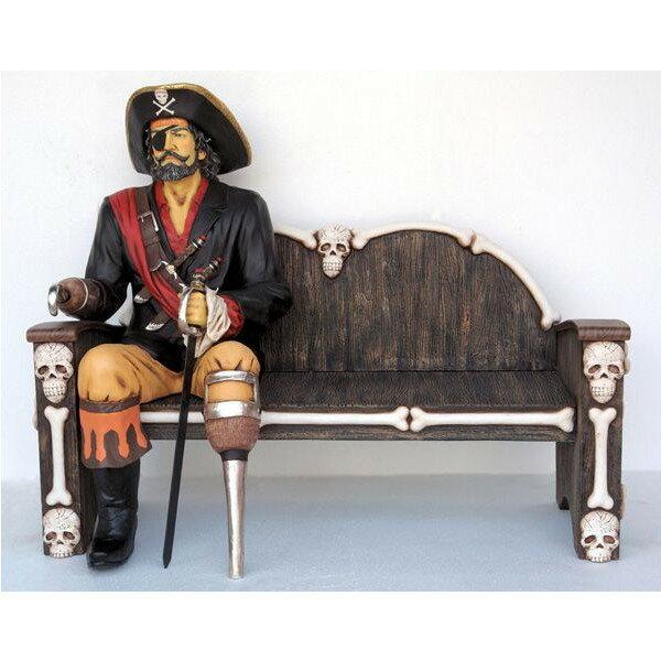 キャプテンパイレーツ(海賊船長) シッティング with ベンチ・等身大フィギュア