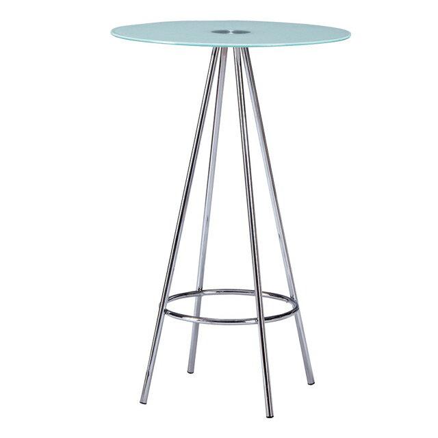 カウンターテーブル バーテーブル カフェテーブル ハイタイプテーブル てーぶる ガラス製