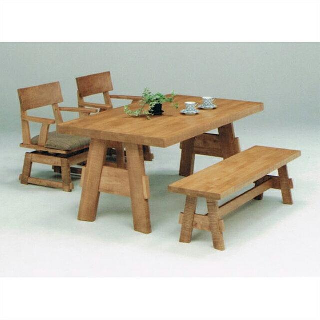 ダイニングテーブルセット ダイニングセット ベンチタイプ 4点セット 4人掛け 4人用ダイニングセット 食堂セット 食卓テーブルセット ダイニング4点セット カフェテーブルセット 四人掛け 四人用 ベンチ付き ブラウン 木製 和風