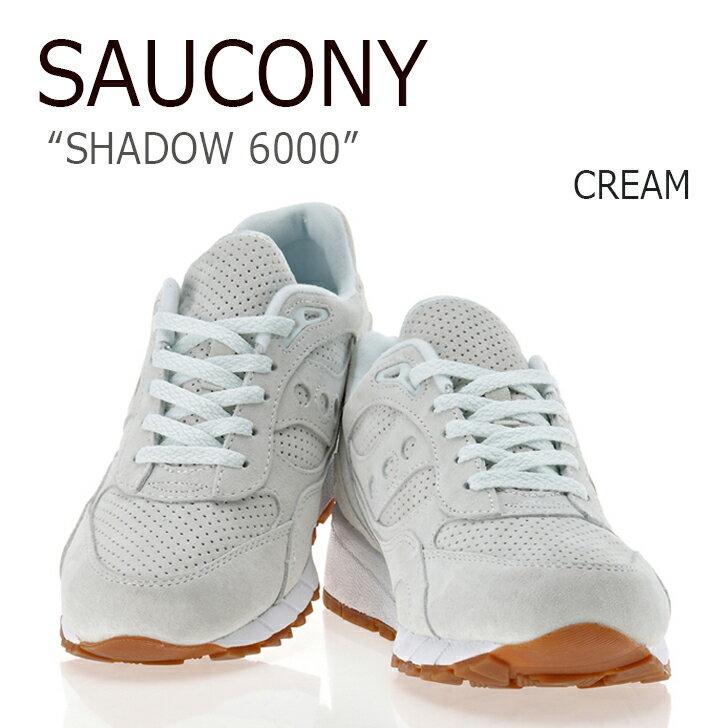 送料無料 サッカニー スニーカー Saucony メンズ SHADOW 6000 シャドウ6000 CREAM クリーム S70222-1 シューズ