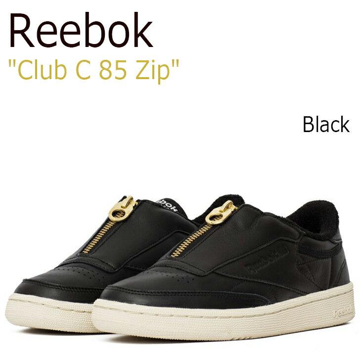 送料無料 リーボック スニーカー Reebok メンズ レディース Club C 85 Zip クラブ チャンピョン 85 ジップ Black ブラック BS6608 シューズ