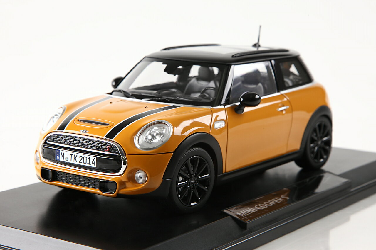 1 18 2014 s f56 2014 mini cooper s 1 18 orange by bmw. Black Bedroom Furniture Sets. Home Design Ideas