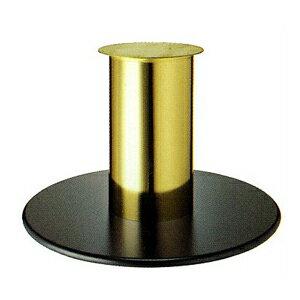 テーブル脚 ラウンドS7850 ベース850φ パイプ210φ 受座280φ 黒紛体塗装/ゴールドメッキパイプ AJ付 高さ700mmまで