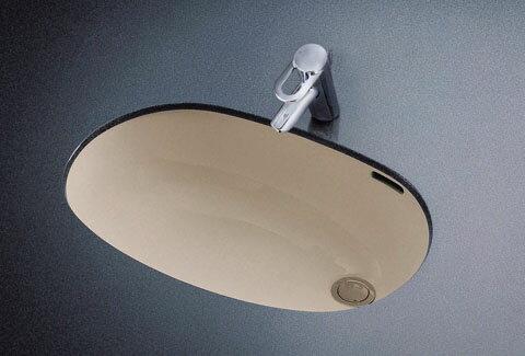 送料無料 TOTO L587U楕円形洗髪洗面器620×430実容量16.0L