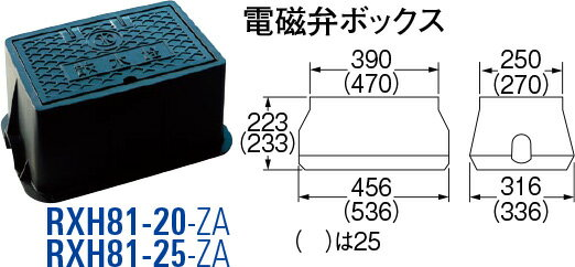 最大500円クーポン配布中�送料無料 SANEI(三栄水栓製作所) 樹脂製電磁弁ボックス RXH81-25-ZA