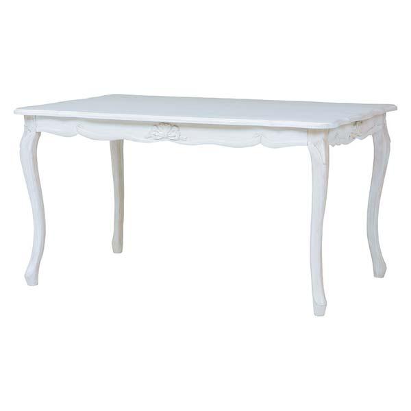 \半額以下セール/ダイニングテーブル 幅135cm アンティーク家具 ホワイト 白 姫系 可愛い