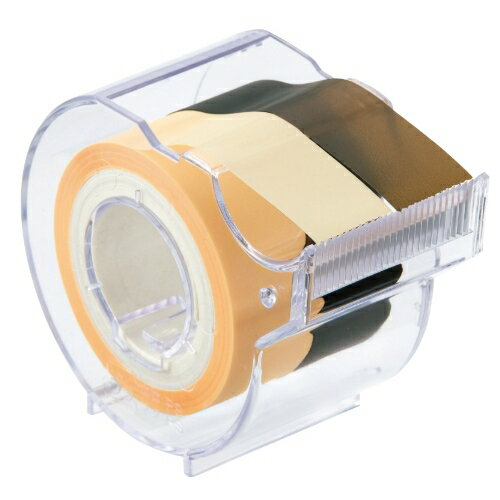 名入れ ヤマト メモックロールテープ フィルムタイプ(15mm幅) アイボリー&ダークブラウン