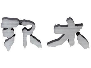 表札  アルミ鋳物文字《70mm》ヘアライン仕上げ  【表札】【表札 アルミ】【表札 錆びない】05P03Dec16