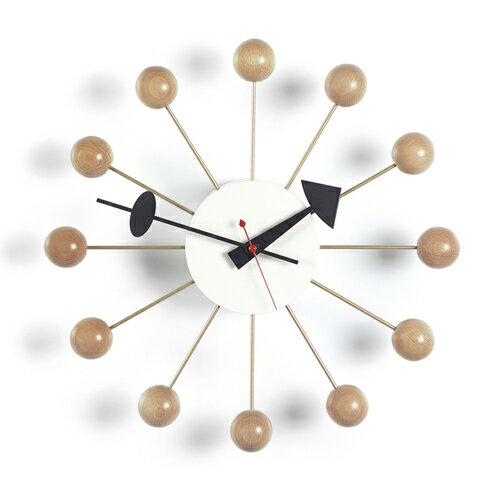 Vitra( ヴィトラ )「 Ball Clock ( ボール クロック )」ナチュラル【送料無料】【P01】【flash】
