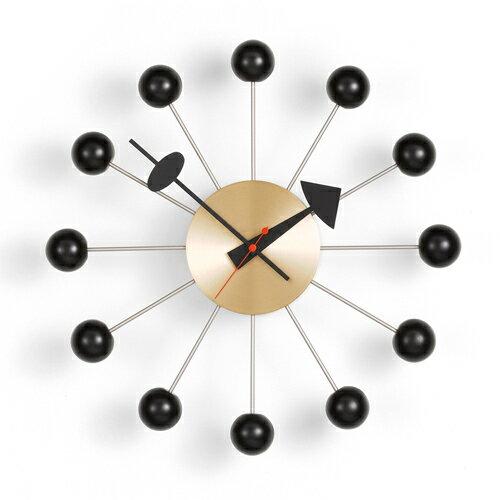 Vitra( ヴィトラ )「 Ball Clock ( ボール クロック )」ブラック/ブラス【送料無料】【P01】【flash】