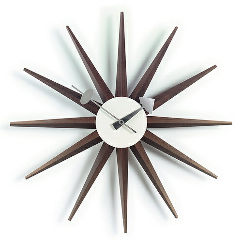 Vitra( ヴィトラ )「 Sunburst Clock ( サンバースト クロック )」ウォルナット【送料無料】【P01】【flash】