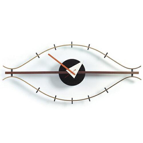 Vitra( ヴィトラ )「 Eye Clock ( アイ クロック )」ブラス/ウォルナット【送料無料】【P01】【flash】