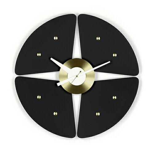 Vitra( ヴィトラ )「 Petal Clock ( ペタル クロック ) 」ブラック/ブラス【送料無料】【P01】【flash】