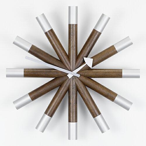 Vitra( ヴィトラ )「 Wheel Clock ( ウィール クロック )」ウォルナット/アルミニウム【送料無料】【P01】【flash】