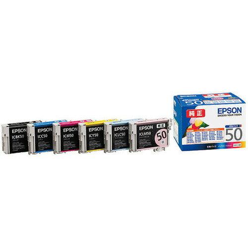 家電 別売部品 プリンタ用インク エプソン インクカートリッジ 6色パック IC6CL50
