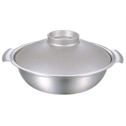 ホーム&キッチン 鍋・フライパン 鍋 ステンレス卓上鍋 DONABE 24cm シルバー DN-24S