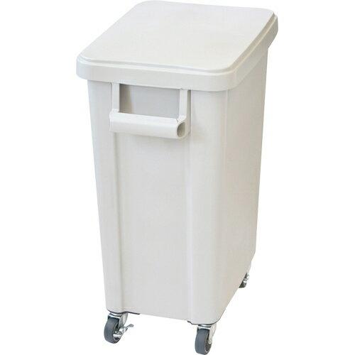 ホーム&キッチン 収納 ゴミ箱 厨房用キャスターペール 45L 排水栓付 グレー