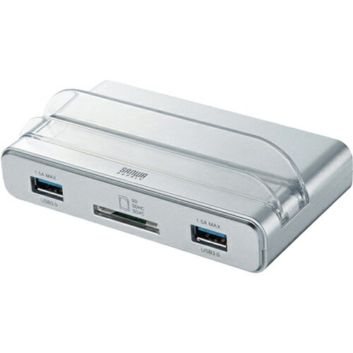 家電 パソコン周辺機器 パソコンサプライ サンワサプライ PC・タブレット両用USB3.0ハブ シルバー USB-3HMS3S