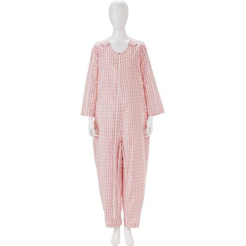 介護 介護用衣料品 パジャマ・寝巻き フドーねまき5型3シーズン コーラルピンク LL