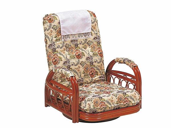 レビュー投稿で次回使える2000円クーポン全員にプレゼント 直送 ラタンチェア RATTAN CHAIR ギア回転座椅子 RZ-921 【代引不可】 【インテリア 椅子・ソファ】