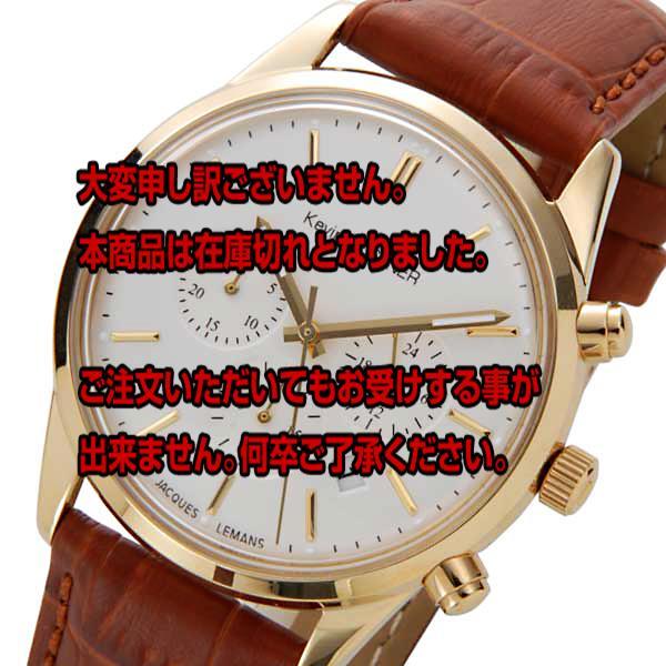 レビュー投稿で次回使える2000円クーポン全員にプレゼント 直送 ジャックルマン ケビンコスナーモデル クオーツ クロノ 腕時計 KC-103B ホワイト 【腕時計 海外インポート品】