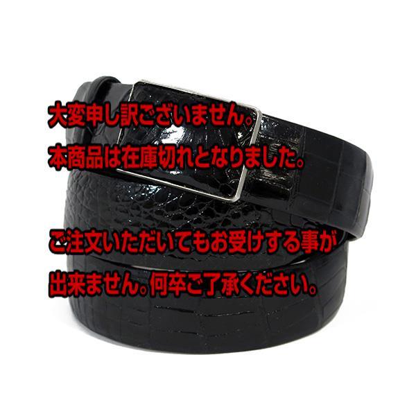 5000円以上送料無料 クロコダイル 裏面牛革 35mm バックルタイプ メンズ ベルト CRG-35B  ブラック 【ファッション小物 ベルト】 レビュー投稿で次回使える2000円クーポン全員にプレゼント