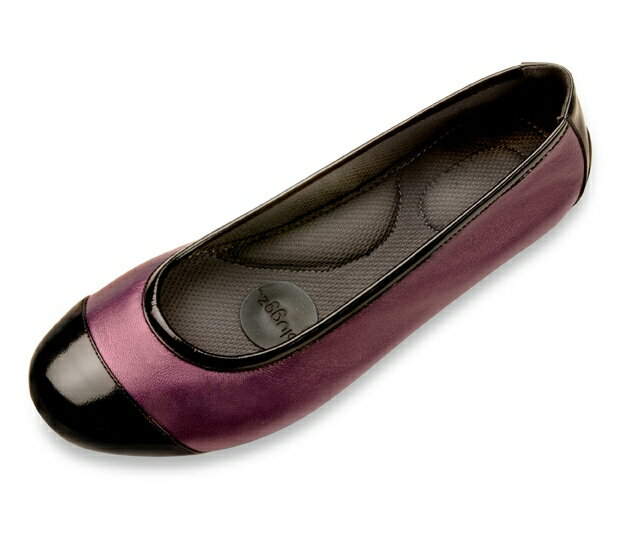 EOS Plum leather ballet
