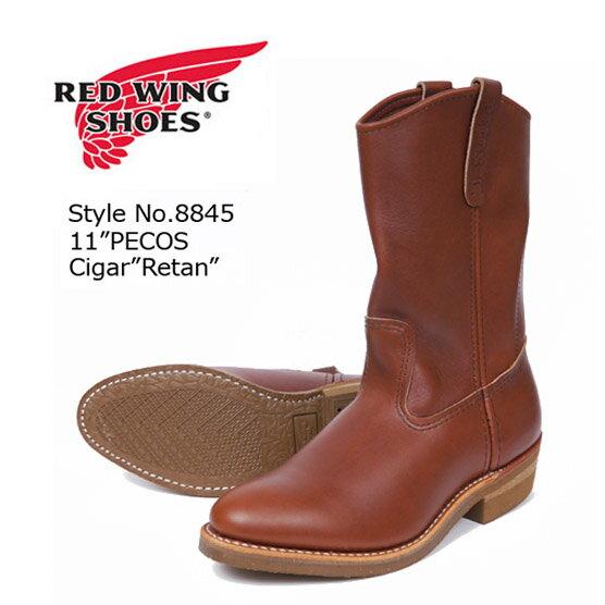 REDWING レッドウィング ペコスブーツ ワークブーツ Brown Chemigum Cork Style No.8845 【2017年 秋冬 新作】