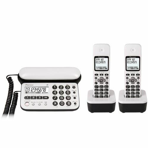 パイオニア TF-SD15W-PW(ピュアホワイト) デジタルコードレス電話機 子機2台