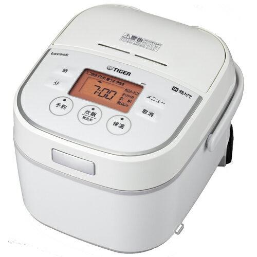 タイガー魔法瓶 JKU-A551-W(ホワイト) 炊きたて tacook IH炊飯器 3合