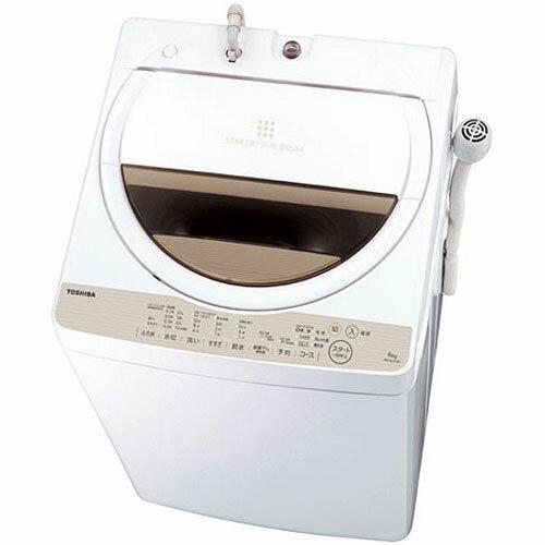 【設置+リサイクル】東芝 AW-6G5-W(グランホワイト) 全自動洗濯機 上開き 洗濯6kg