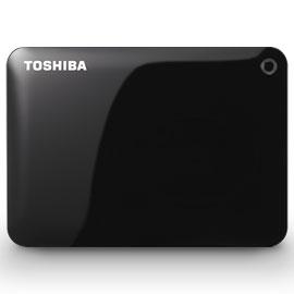 東芝 HD-PF30TK(ブラック) ポータブルHDD 3TB USB3.0(USB2.0互換) 接続