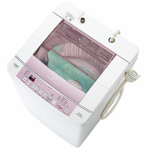 【設置+リサイクル+長期保証】アクア AQW-VW800F-W(ホワイト) 全自動洗濯機 上開き 洗濯8.0kg