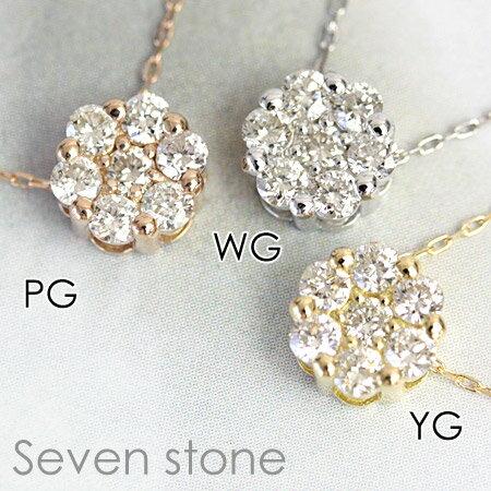 ダイヤモンド ペンダント ネックレス 0.2ct ホワイトゴールド ピンクゴールド イエローゴールド 女子力アップのヌーディースタイル