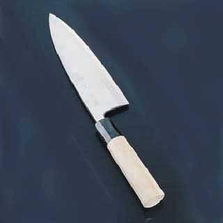 『 和包丁 出刃包丁 』 SA佐文 銀三鏡面仕上 24cm 片刃