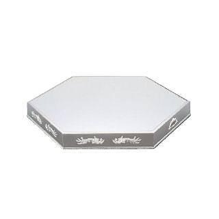 UK 18-8六角型ミラープレート 40インチ[ブラックアクリル] 【 業務用 【 ミラープレート ステンレス 】