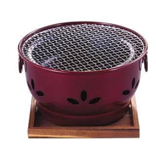 『 コンロ(卓上) 炭コンロ 』IK 割烹 ニュー炭火亭[アルミ製][卓上鍋関連品]