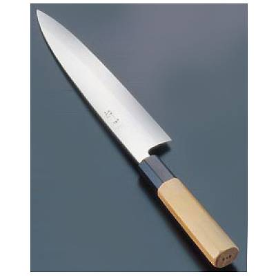 『 和包丁 出刃包丁 』酔心 イノックス本焼和庖丁 身卸出刃 24cm片刃 45076