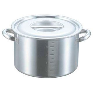 【業務用】電磁モリブデン半寸胴鍋[目盛付] クローバー 42cm クローバー