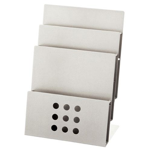 パンフレットスタンドシリーズ A4サイズ3段【店舗 ギフト ラッピング 包装  店舗備品】【ECJ】