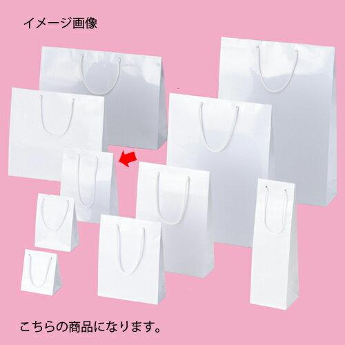 ブライトバッグ ホワイト 17×8.5×23 50枚【店舗備品 包装紙 ラッピング 袋 ディスプレー店舗】【ECJ】
