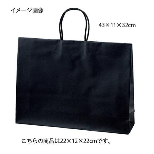 マットバッグ ブラック 22×12×22 100枚【店舗備品 包装紙 ラッピング 袋 ディスプレー店舗】【ECJ】