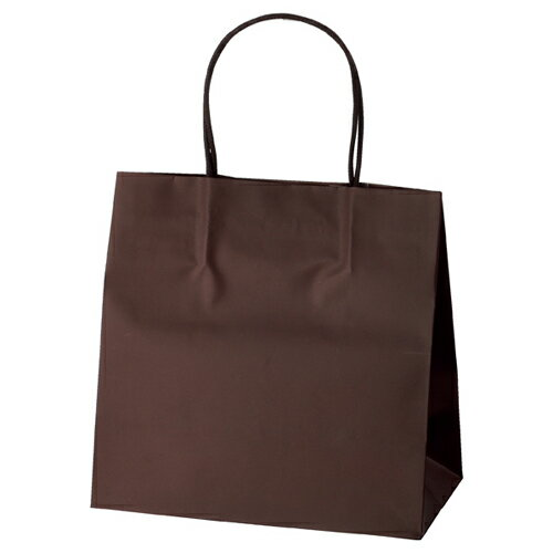 マットバッグ ブラウン 22×12×22 100枚【店舗備品 包装紙 ラッピング 袋 ディスプレー店舗】【ECJ】
