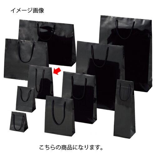 ブライトバッグ ブラック 17×8.5×23 50枚【店舗備品 包装紙 ラッピング 袋 ディスプレー店舗】【ECJ】