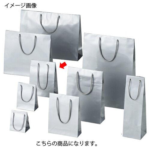 ブライトバッグ シルバー 17×8.5×23 50枚【店舗備品 包装紙 ラッピング 袋 ディスプレー店舗】【ECJ】